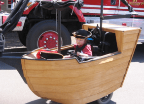 Aye Aye Matey! Here's comes a pirate and his ship courtesy of MagicWheelchair.org.