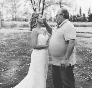 Touching father-daughter moment with Heather Koehler and her dad.