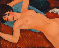 """The masterpiece: Armedo Madigliani's """"Reclining Nude."""" It will soon hang at The Long Museum in Shanghai."""
