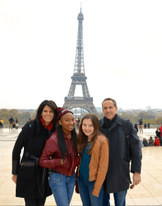 With our girls in Paris. Thanksgiving 2013.