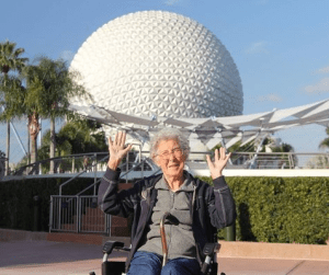 Norma at Epcot Center, Disney World. Credit: Driving MIss Norma/FB