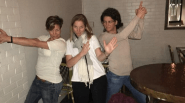 Three women prevent a stranger's attempted date rape when they see a man dump a vial of liquid into a woman's drink, they spring into action.