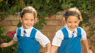 Formerly conjoined twins Ruby and Rosie Formosa are ready to start school.
