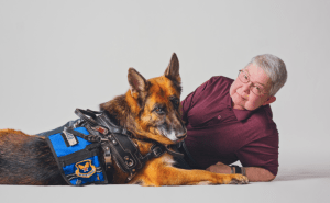 "Professional photographer Marla Keown offers free portraits of military veterans and their pets. She calls it, ""Vets with Pets."""