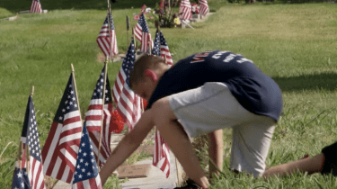 11-year-old Preston Sharp leads a campaign of honoring as many graves of veterans as possible across Northern California.
