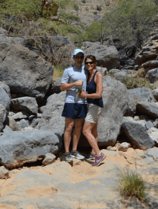 Hiking ancient villages and washed out canyons with wild goats in Oman. Not a lot of folks' idea of a good time. Thank goodness we found each other.