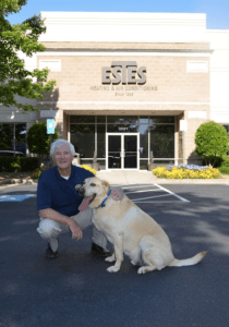 Tommy Estes is the owner of Estes Services. Bo is the company mascot.