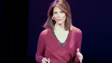 Daryn Kagan giving her TED Talk at TEDxBigSky. How To Watch The News And Get Inspired.
