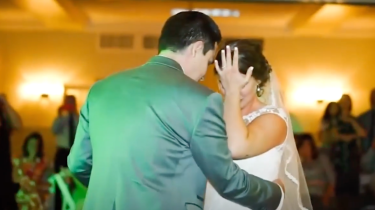 Bride Kaley West's five brothers create an emotional tribute to their late father to step in for him at their sister's wedding.