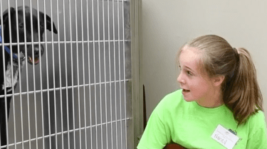 10-year-old Nancy Tant sings to shelter animals and helps them get adopted.