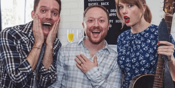 What would Taylor Swift do when a big fan took a shot and asked her to serenade his fiance at their engagement party? She said yes.