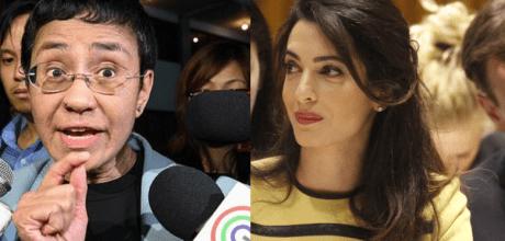 Amal Clooney will join the international legal team defending heroic journalist Maria Ressa.