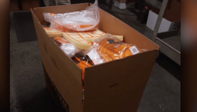 A look at the huge box of swag the Tennessee Vols sent to a boy in Florida who was bullied for wearing a hand drawn design on his orange t shirt.