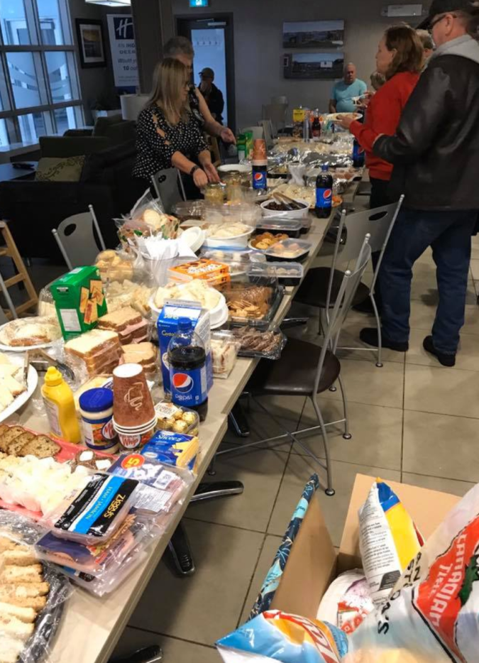 Check out the spread of food the folks of Newfoundland showed up with to help more than 75 stranded airline passengers on Christmas Eve.