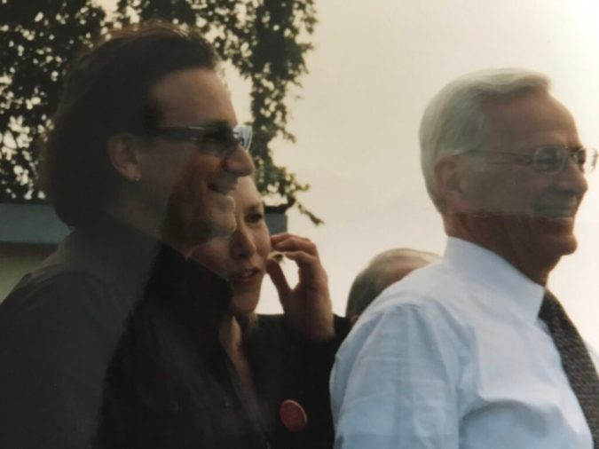 Bono and US Treasury Secretary Paul O'Neill tour Africa in 2002.