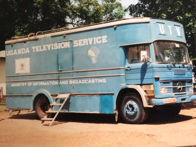 The Uganda Broadcasting Service truck was one of the nicer ones we used on our trip to cover Bono and Paul O'Neill for CNN in 2002.