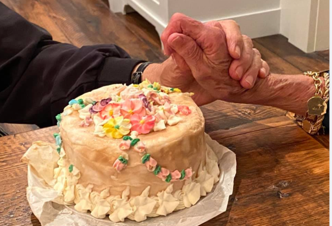 Couple reveals mystery of what inside the top tier of their wedding cake from 63 years ago.