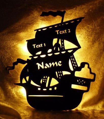 Piratenzimmer Nachtlicht