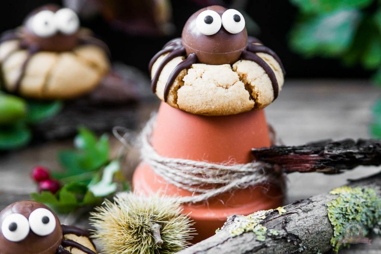 Erdnussbutter Spinnen Cookies – zu Gast bei Sweet Pie