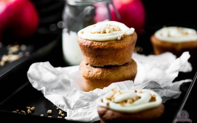 Bratapfel Marzipan Muffins – weil der Geschmack von Bratäpfeln einfach in den Winter passt…