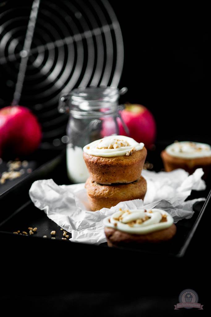 Bratapfel Marzipan Muffins