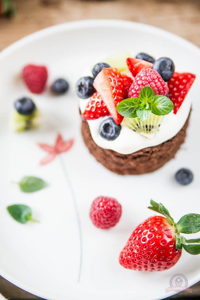 Tutti Frutti Brownie Cakes