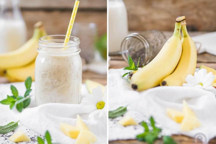 Mango-Bananen Smoothie mit Chia-Samen – fit und gesund in den Sommer…