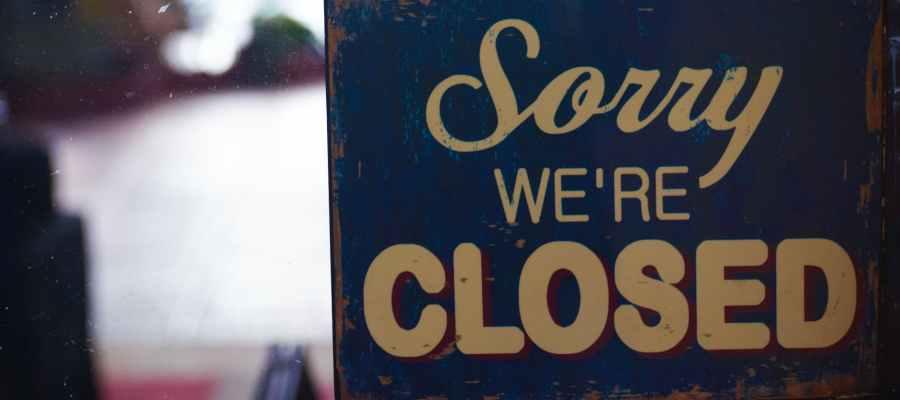 извините, мы закрыли вывеску
