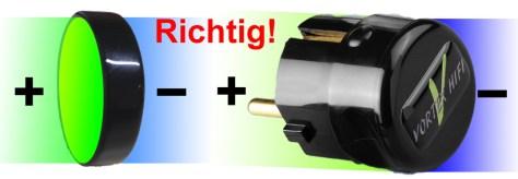 Bipolares-Aktivfeld-Power-plug-richtig