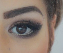 Apply mascara, false lashes, another coat of mascara and don't forget to conceal under the eyes :)