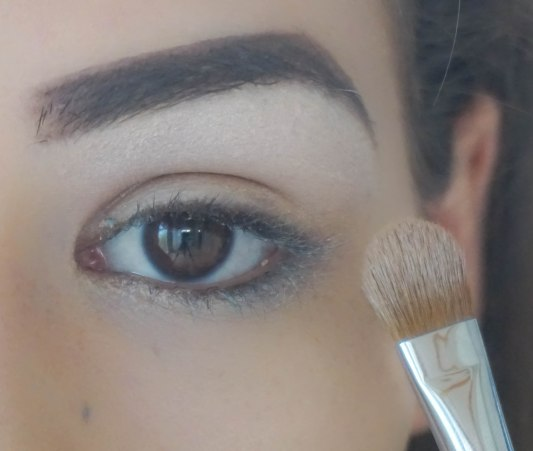 apply matte eyeshadow right under your brow; Brush Sigma E60