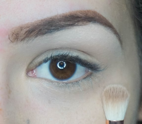 First apply an eyeshadow base then highlight the eye under your brow bone with soft matte eyeshadow (thirteen with Sigma E60) then apply soft matte nude eyeshadow on your crease and blend it upwards (nude with Zoeva 227)