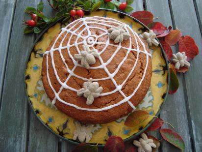 appeltaart met Halloweenthema