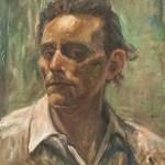 Alfredo Catarsini Autoritratto olio su legno 1943 circa 1