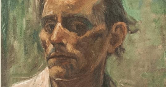Alfredo Catarsini Autoritratto olio su legno 1943 circa 2
