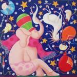 Beppe Francesconi olio su tela cm 40×40