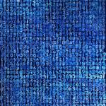 Giorgio Piccaia, Fibonacci blu, 2020, olio su tela, cm 140×110