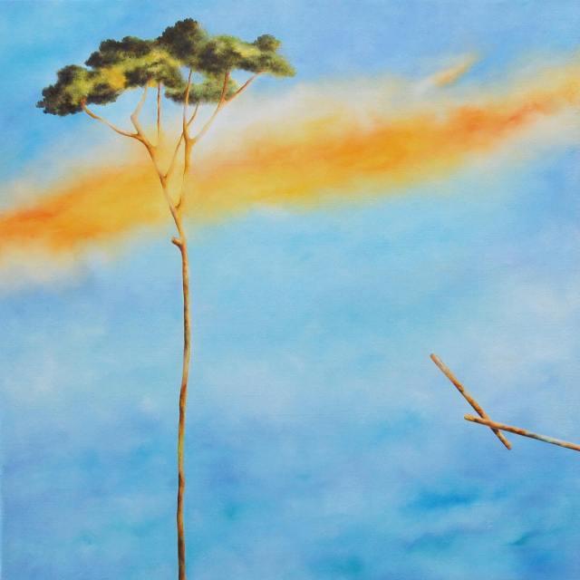 Riccardo Corti olio su tela cm 70x70