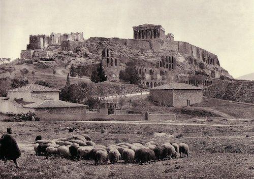 Βόσκηση γύρω από την Ακρόπολη το 1903 (φωτογραφία Φρεντ Μπουασονά)