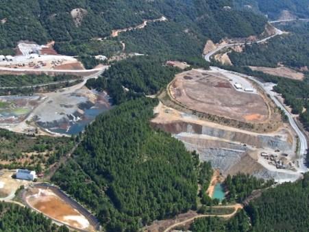 Τα μεταλεία χρυσού στο δάσος στις Σκουριές Χαλκιδικής (φωτογραφία από το διαδίκτυο).