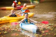 Kayaking and Fishing at the O.E.C. Pond