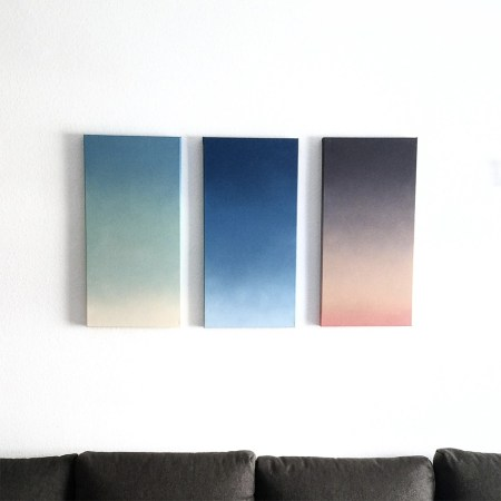 sunset sunsets sky painting gradient minimal deco home canvas paint dase