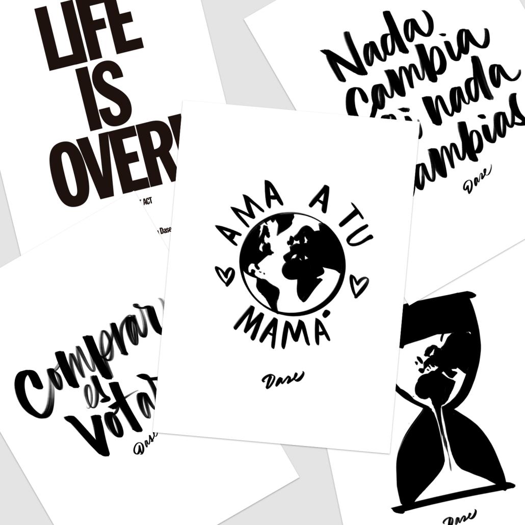 laminas para imprimir, descargables, imprimibles pdf blanco y negro minimalistas modernas