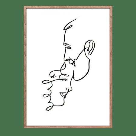 Ilustración personalizada de pareja para regalar en boda o aniversario