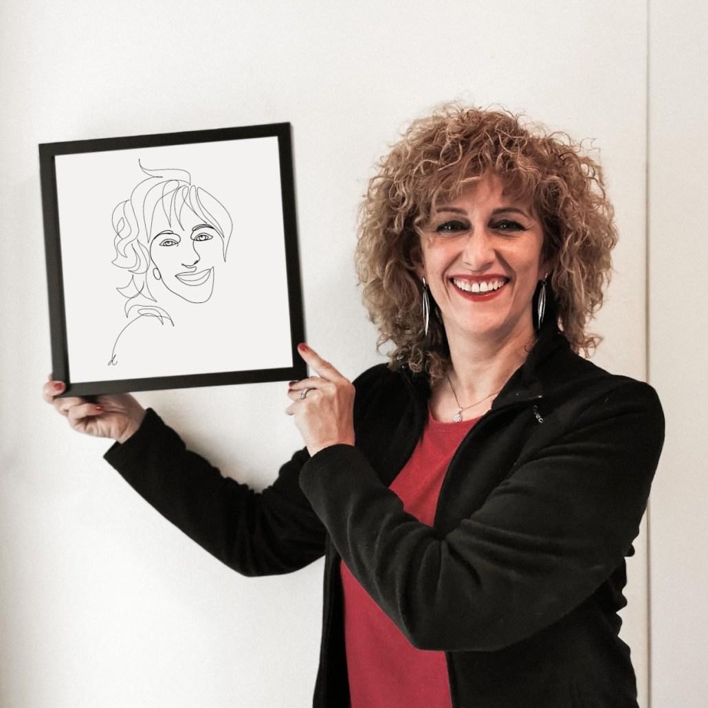Ilustracion personalizada de retrato para regalo dia de la madre o cumpleaños