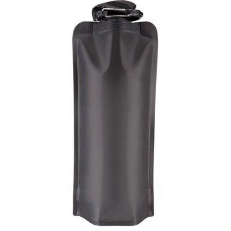 botella reutilizable plegable negra
