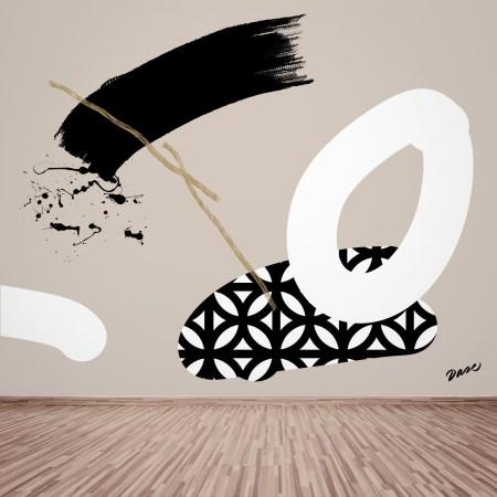 Mural Abstracto pintado en pared Graffiti Dase