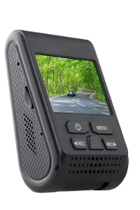 """The A119 dash cam as seen from the rear, with its 2"""" screen and buttons"""