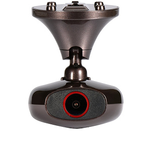 The tiny DDPai M6+ car camera, as seen from the front