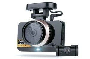 Product photo of the Lukas LK-9750 front and rear dash cam